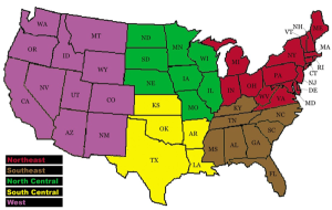 Regional Show Map